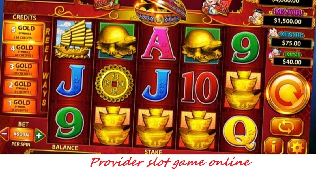 Provider slot game online