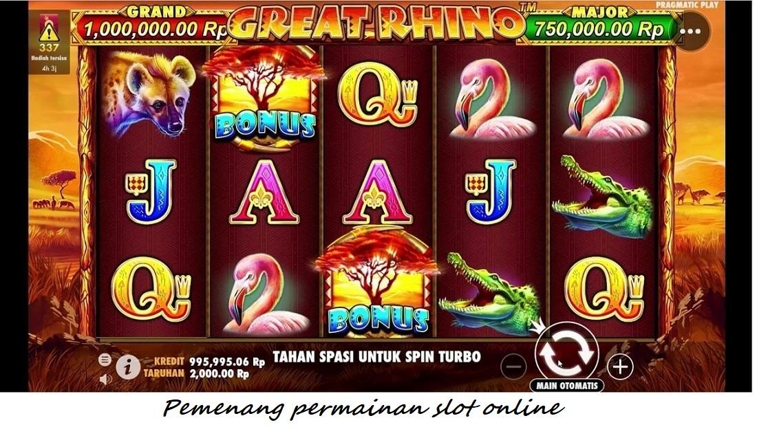 Pemenang permainan slot online